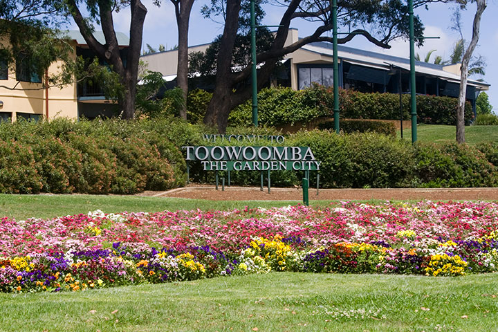 A view of Toowoomba's welcome feature near the top of the Range.